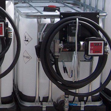IBC üzemanyag tartály